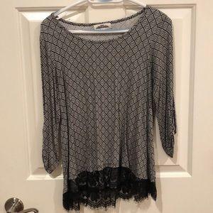 ¾ length Sleeve top